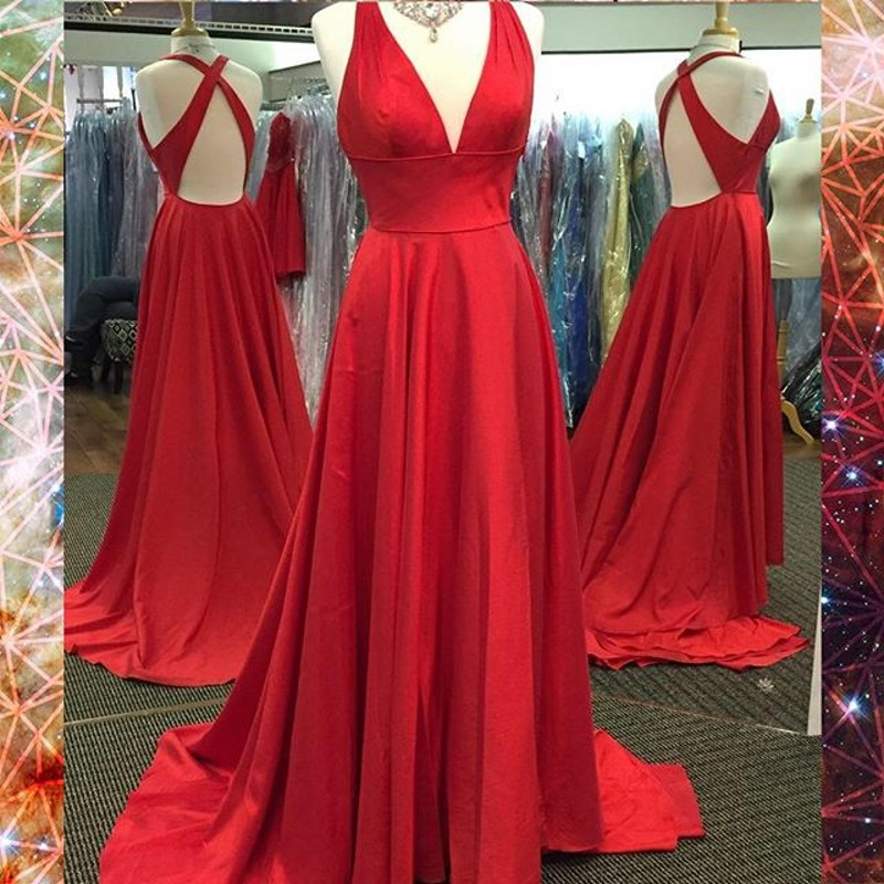 Charming V-Neck A-Line Prom Dresses,Long Prom Dresses,Cheap Prom Dresses, Evening Dress Prom Gowns, Formal Women Dress,Prom Dress,C286
