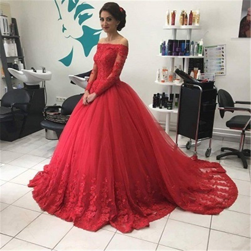 22599ca9ea7 Off The Shoulder Long Sleeve Prom Dresses