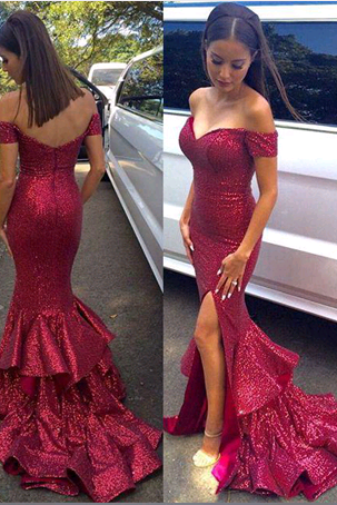 Off The Shoulder Mermaid Prom Dresses,Long Prom Dresses,Cheap Prom Dresses, Evening Dress Prom Gowns, Formal Women Dress,Prom Dress,C551