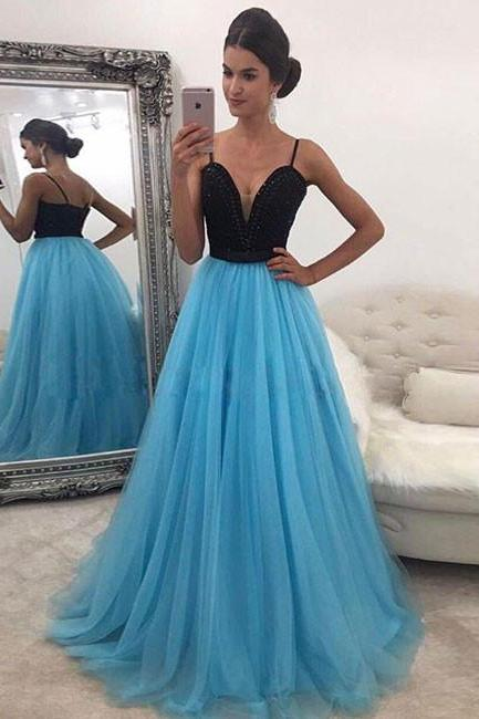 Newest Spaghetti Straps A-Line Prom Dresses,Long Prom Dresses,Cheap Prom Dresses, Evening Dress Prom Gowns, Formal Women Dress,Prom Dress,C572