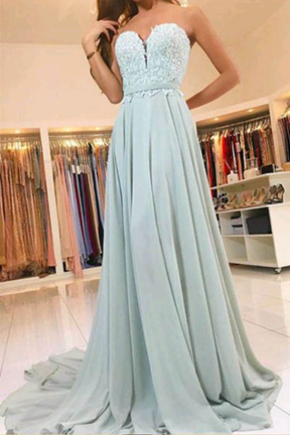 Elegant Sweetheart A-Line Appliques Prom Dresses,Long Prom Dresses,Green Prom Dresses, Evening Dress Prom Gowns, Formal Women Dress,Prom Dress,C644