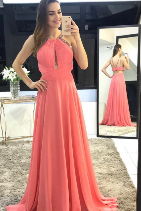 Charming O-Neck A-Line Prom Dresses,Long Prom Dresses,Green Prom Dresses, Evening Dress Prom Gowns, Formal Women Dress,Prom Dress,C663