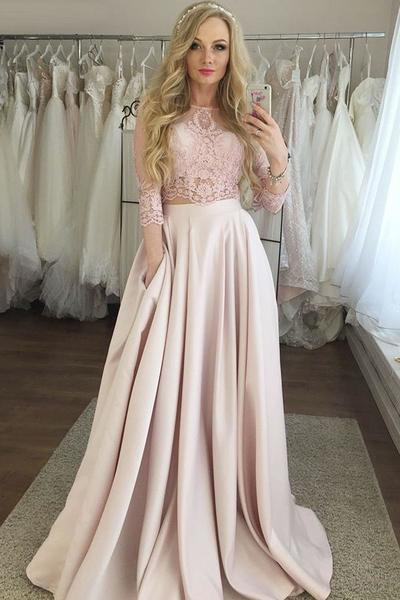 Charming Two Pieces Two pieces Prom Dresses,Long Prom Dresses,Green Prom Dresses, Evening Dress Prom Gowns, Formal Women Dress,Prom Dress C1014