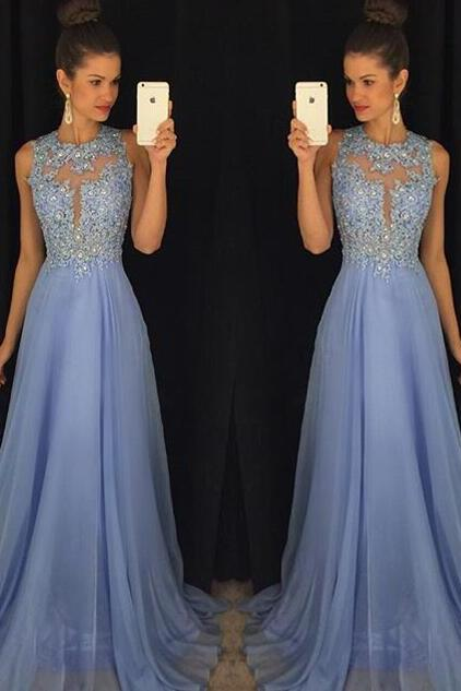 O-Neck A-Line Prom Dresses,Long Prom Dresses,Cheap Prom Dresses, Evening Dress Prom Gowns, Formal Women Dress,Prom Dress,C19