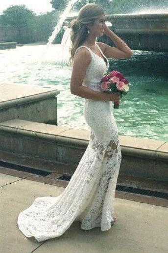 V-Neck Wedding Dresses,Long Wedding Dresses,Cheap Wedding Dresses, Evening Dress Prom Gowns, Formal Women Dress,Wedding Dress,C108