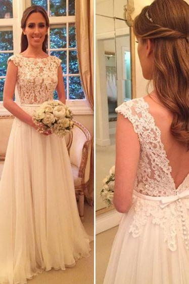 O-Neck Wedding Dresses,Long Wedding Dresses,Cheap Wedding Dresses, Evening Dress Prom Gowns, Formal Women Dress,Wedding Dress,C116
