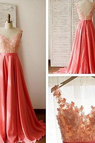 O-Neck Appliques Prom Dresses,Long Prom Dresses,Cheap Prom Dresses, Evening Dress Prom Gowns, Formal Women Dress,Prom Dress,C118