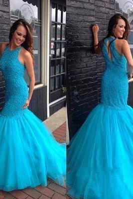 Sexy O-Neck Beading Mermaid Prom Dresses,Long Prom Dresses,Cheap Prom Dresses, Evening Dress Prom Gowns, Formal Women Dress,Prom Dress,C186