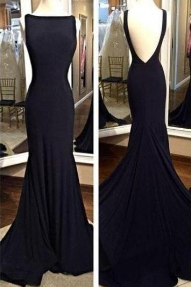 O-Neck Backless Mermaid Prom Dresses,Long Prom Dresses,Cheap Prom Dresses, Evening Dress Prom Gowns, Formal Women Dress,Prom Dress,C295