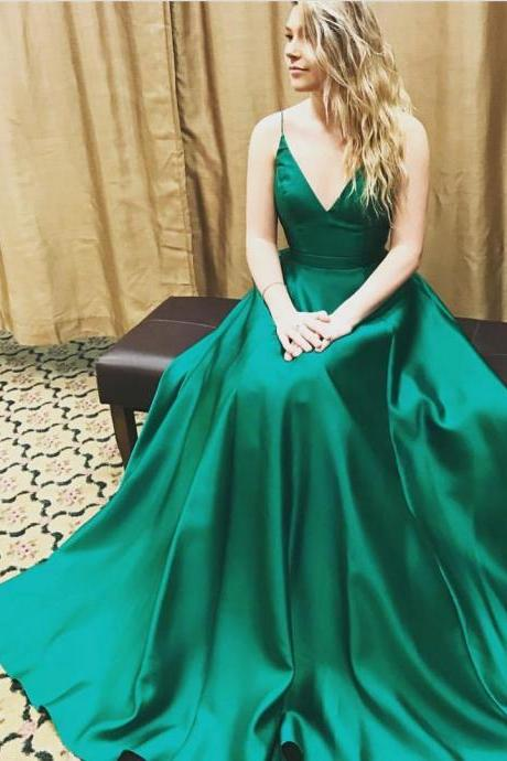 Newest Spaghetti Straps A-Line Prom Dresses,Long Prom Dresses,Cheap Prom Dresses, Evening Dress Prom Gowns, Formal Women Dress,Prom Dress,C338