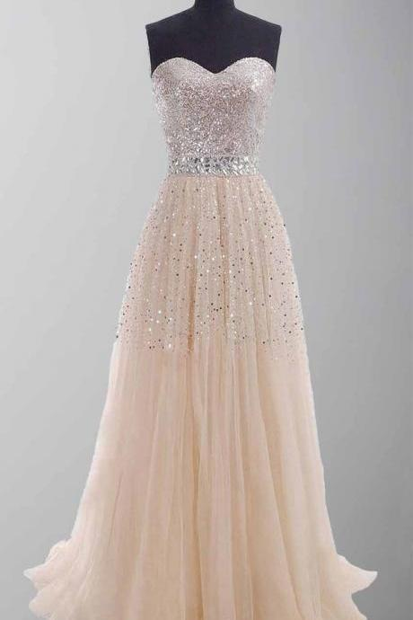 Charming Sweetheart A-Line Prom Dresses,Long Prom Dresses,Cheap Prom Dresses, Evening Dress Prom Gowns, Formal Women Dress,Prom Dress,C384