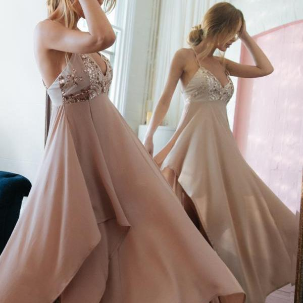 Charming Spaghetti Straps Prom Dresses,Long Prom Dresses,Cheap Prom Dresses, Evening Dress Prom Gowns, Formal Women Dress,Prom Dress,C373